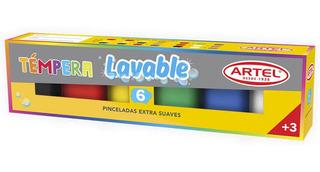 Estuche Témpera Lavable 6 Colores Artel