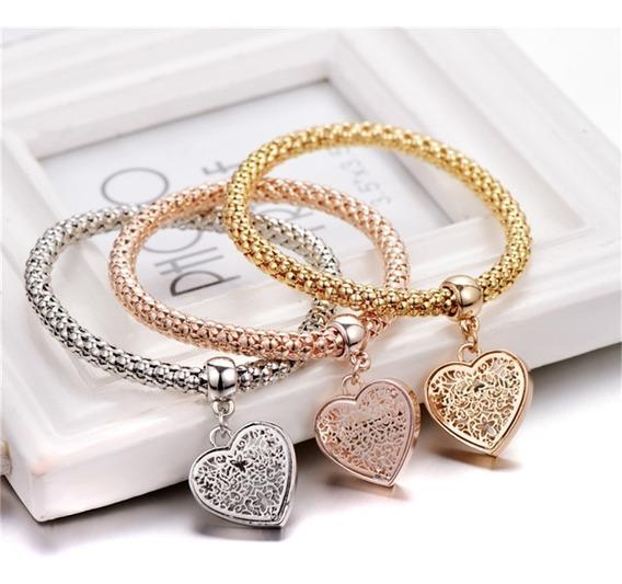 Pulsera Mujer Heart Charm Barato Pandora Promocion Set