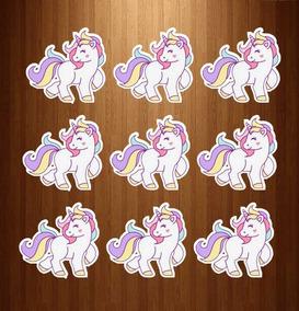 30 Apliques Unicornio Tags, Apliques Para Tubetes, 8cm