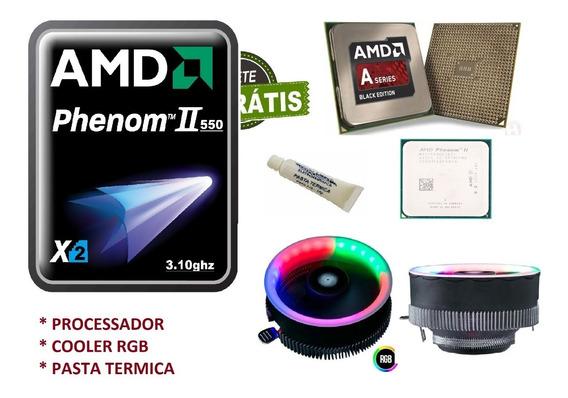 Processador 550 X2 3.10 Ghz Am3+ 3,3ghz Cooler Rgb E Pasta T