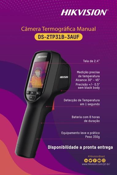 Câmera Termográfica De Mão Hikvision Ds-2tp31b-3auf