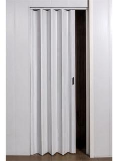 Oferta Puerta Plegadiza Reforzada Pvc 10mm Completa Blanca 0,65x2m