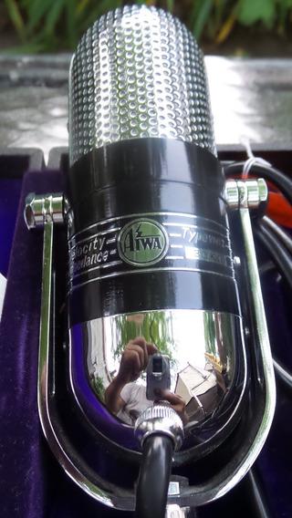Microfone Vintage Ribbon Aiwa - Únicos No Brasil