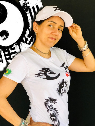 Imagem 1 de 9 de Kit Camisa +boné Branco Baby Look Yorozuya+ Frete Grátis