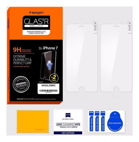 Apple iPhone 7 Plus Spigen Protector Pantalla Templado X 2