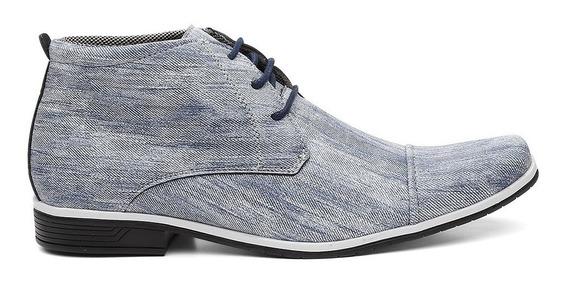 Sapato Social Cano Alto Em Jeans Moda Masculina Preço Oferta