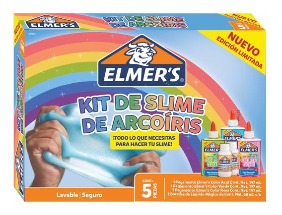 Kit De Slime Arcoíris Kits De Regalo Niños Niñas Elmer