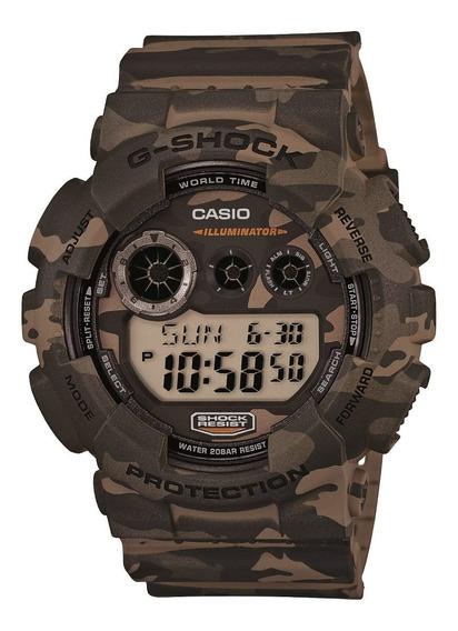 Relógio Masculino G-shock Camuflado Gd-120cm-5dr Original