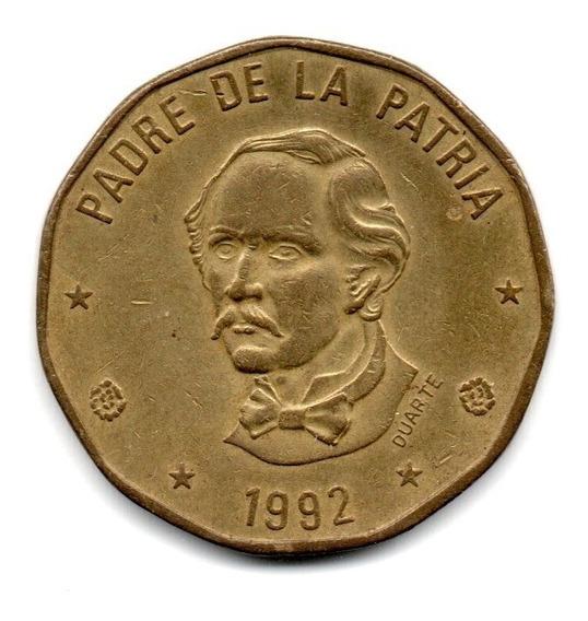 Republica Dominicana Moneda 1 Peso Año 1992 Km#80.2