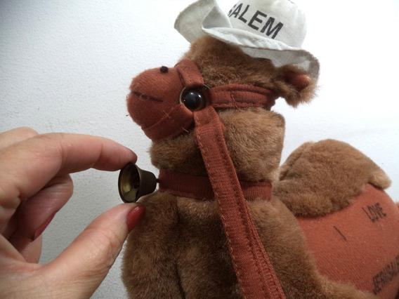 Camelo Pelucia Antigo Jerusalem 26x 29 Cm Lindo Conservado