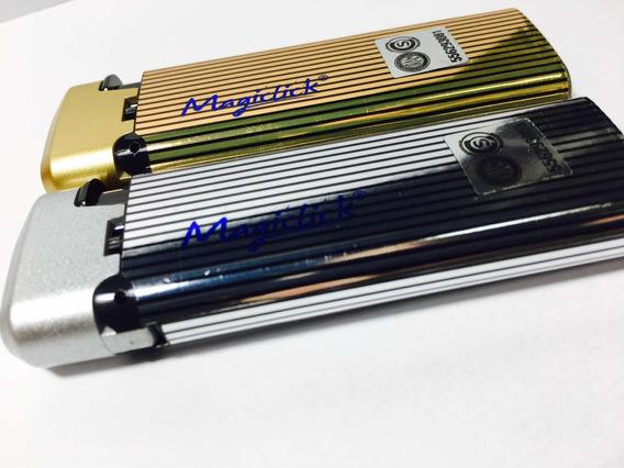 Encendedor Soplete X2 Dorado Plata / Magiclick X2 Llama