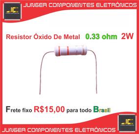 Resistor 0.33 Ohm- 0r33 - Filme Óxido Metal