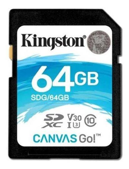 Cartão De Memória Kingston Sd Classe 10 90mb/s ¿ 64gb