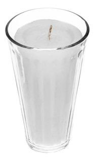 Veladora Limonero 100% Parafina Vaso Grande 10 Pzs