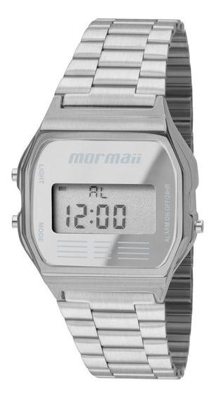 Relógio Mormaii Unissex Vintage Mojh02aa/3c Digital Aço