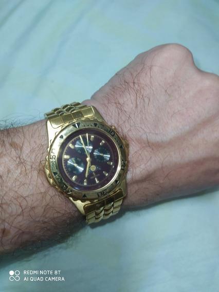 Relógio Séculus Dourado - Lunar - Com Brinde!