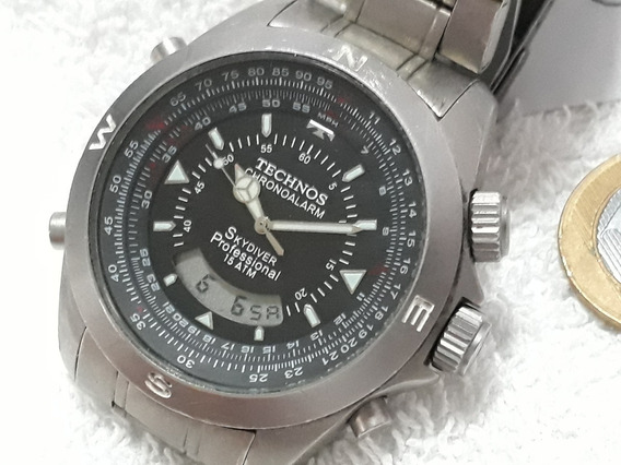 Relógio Technos Skydiver Pilot Titanium !