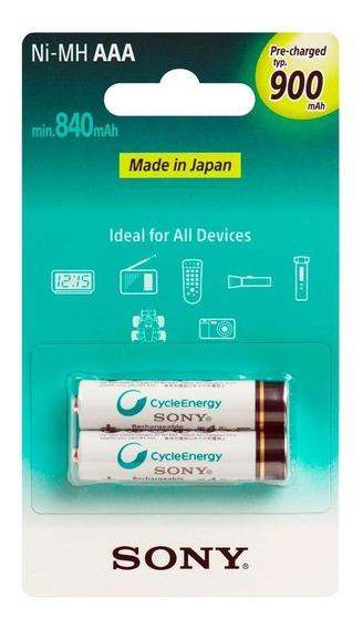 Pilha Recarregável C/2 Aaa 900mha Cycle Energy Sony Original