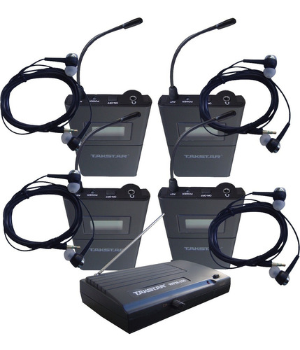 Monitor In Ear Takstar Wpm 200 X4 Intraural Inalambrico Uhf