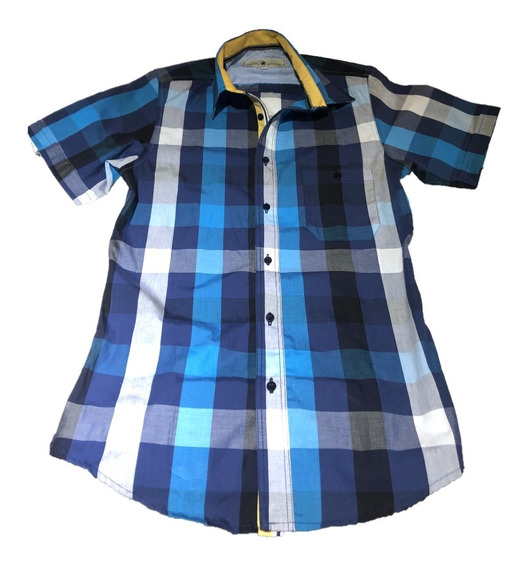Oferta!! Camisa Para Caballero Cuadros Mangacorta Marca Polo