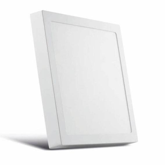 Jogo C/ 14 Plafon Sobrepor Led Quadrado Bivolt Branco 18w