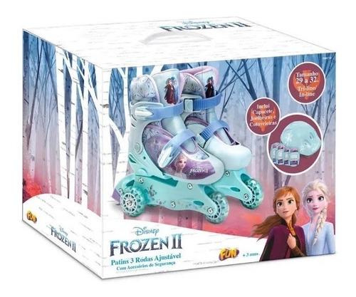 Disney Frozen 2 Patins  3 Rodas Ajustável Com Acessórios