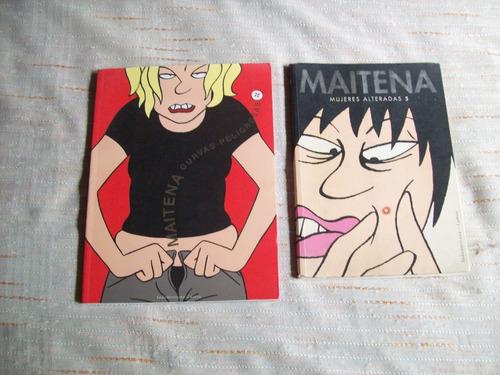 Lote De 2 Libros Ilustrados De Maitena.