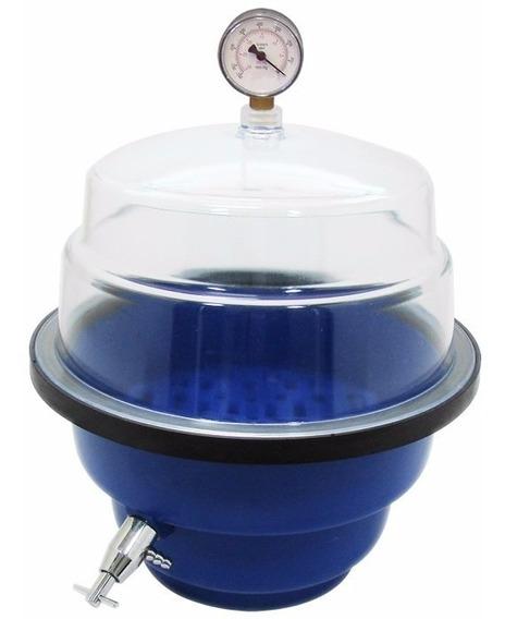 Dessecador A Vacuo 0810 Com Vacuometro Nalgon, Completo