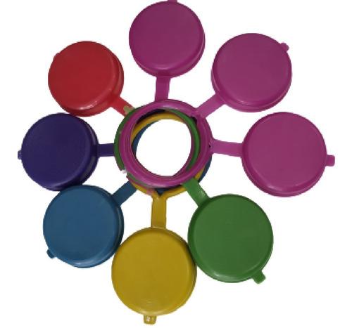 Tapas Reusables Para Botellon Diferentes Colores 100 Unds