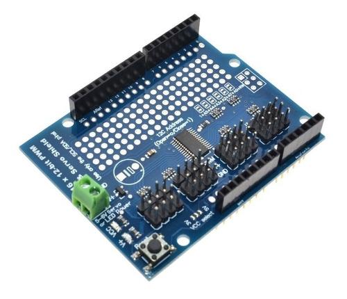 Imagen 1 de 3 de Uno R3 Shield Pca9685 16ch Pwm Servo  Driver Arduino Itytarg