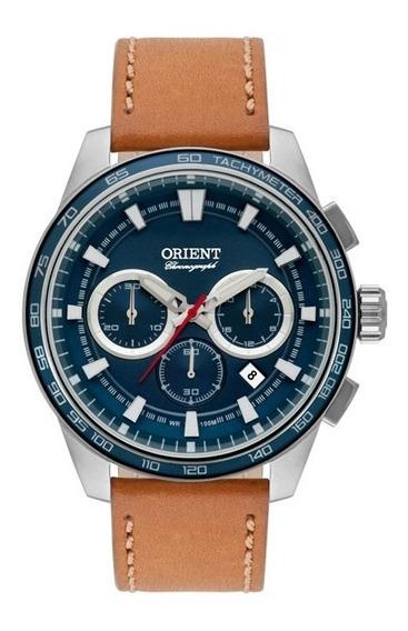 Relógio Orient Masculino Prata/caramelo Mbscc046 D1mx