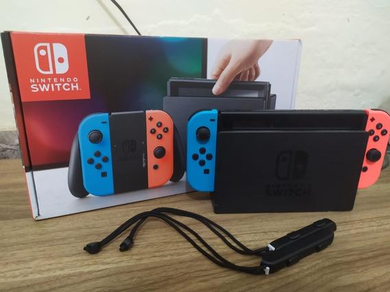 Nintendo Switch 32gb Neon + Acessórios Originais