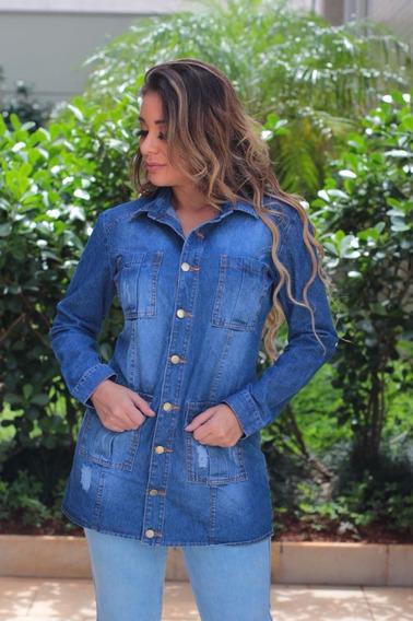 Jaqueta Parca Jeans Lançamento