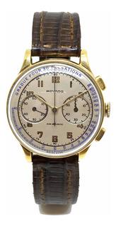 Reloj Movado Cronógrafo Oro 18k Vintage