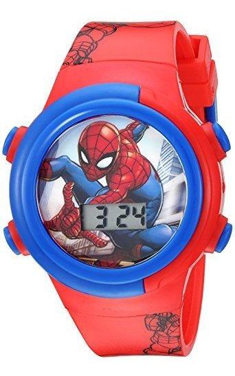 Marvel Reloj De Cuarzo Para Niño Con Correa De Plástico, Roj