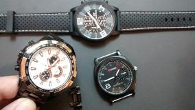 Dois Relógios Curren Original Em Aço Preto Lindo