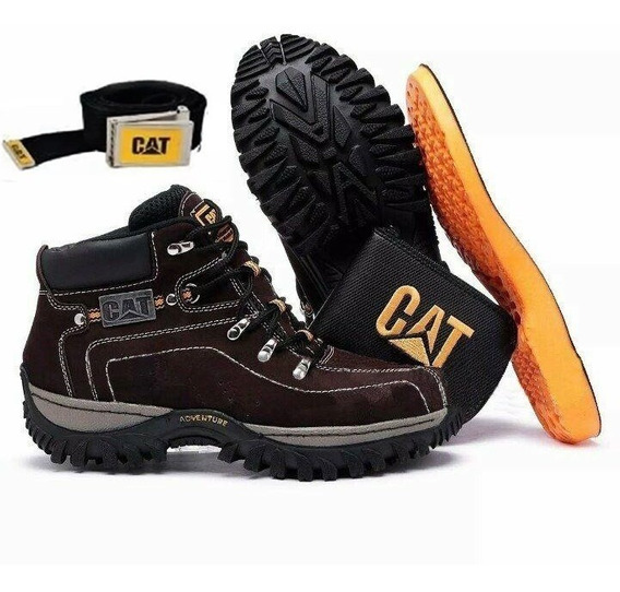 Coturno Bota Caterpillar Adventure Original Kit Cat Gratis