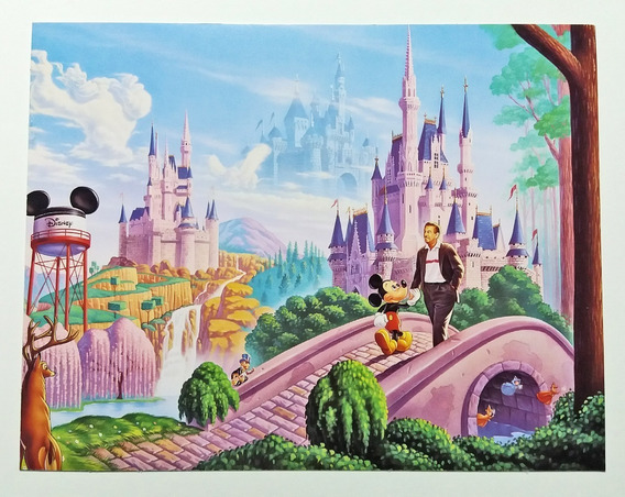 Antigua Tarjeta Postal Walt Disney Mickey Mouse Original 90s