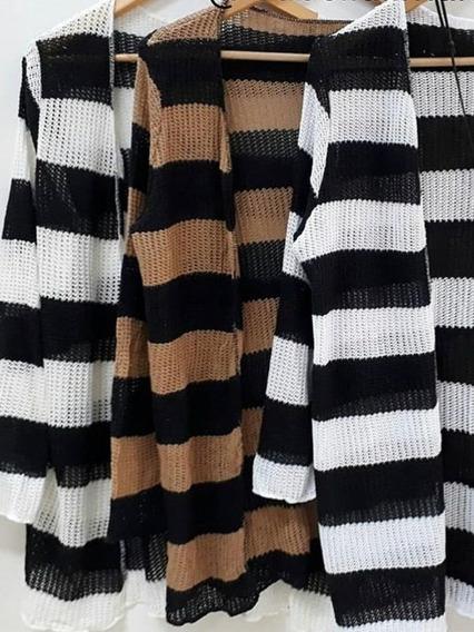 Sobretudo Kimono Cardigan Feminino Blusa Frio Tricot