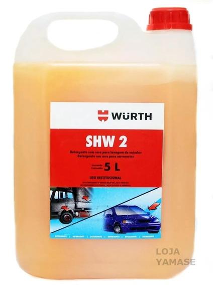 Shampoo Automotivo 5l Wurth Com Cera De Carnauba Shw2