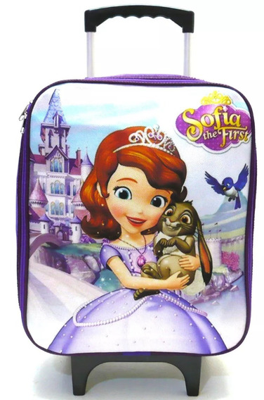 Mochila Ou Malinha Infantil Princesa Sofia Castelo Rodinha M