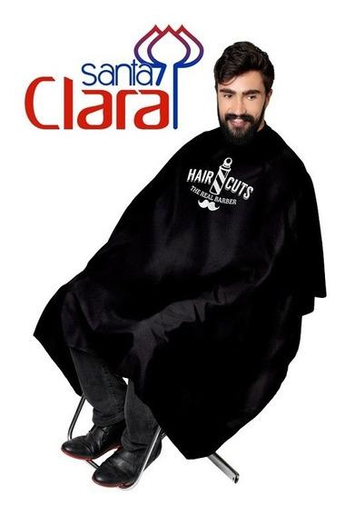Kit 3 Capa De Corte Barbeiro Cabeleireiro Estampada Em Cetim