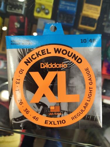 Daddario Encordado Guitarra Eléctrica 010-046 Exl110 Pack X5