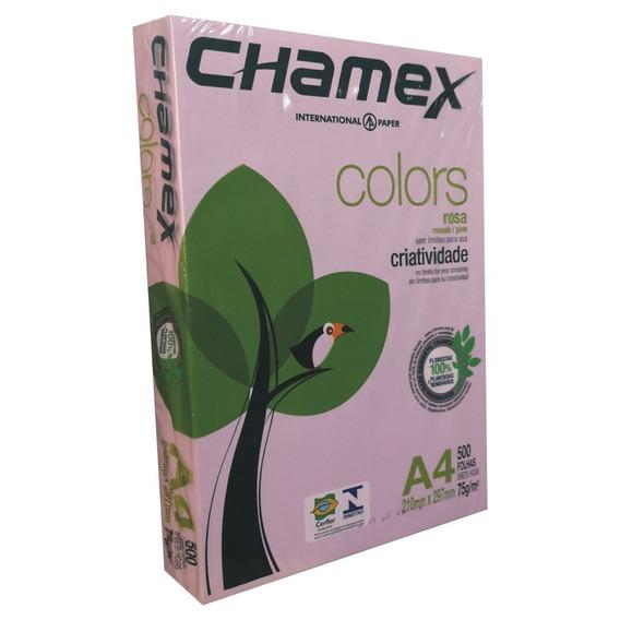 Papel Rosa A4 500 Hojas 75 Gr Laser Inkjet Papeles Color