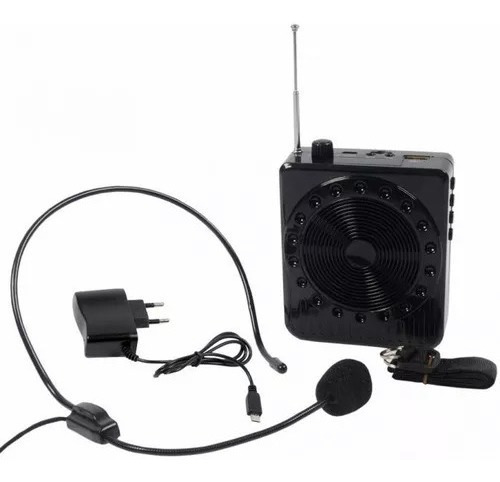 Amplificador Megafone Microfone Kit Professores Completo