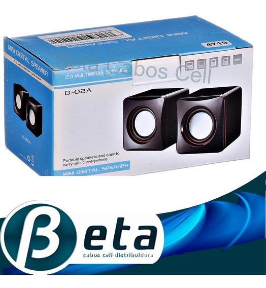 Kit 10 Caixa De Som Portátil Pc Notebook 2,5w Usb