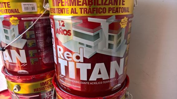 Impermeabilizante Thermotek Red Titan 12 Años 19 Litros!!