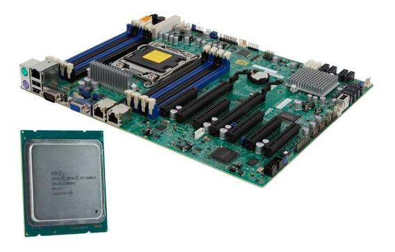 Kit Placa Mãe 2011 Supermicro + Xeon E5-268v2 (sem Cooler)