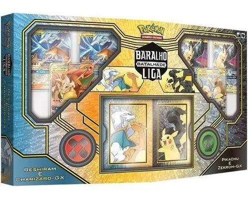 Imagem 1 de 3 de Box Pokémon Baralho Batalha De Liga Reshiram E Charizard Gx