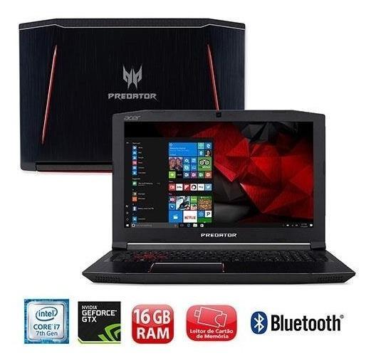 Acer Predator Helios 300 17pol 16gram I7 1tb 256ssd Gtx1060